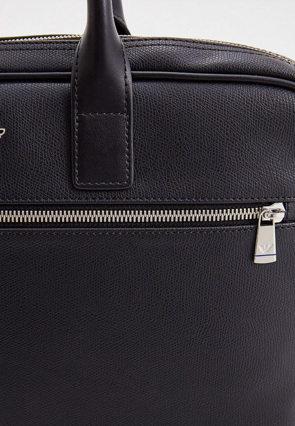 Фото 6 - мужскую сумку Emporio Armani черного цвета