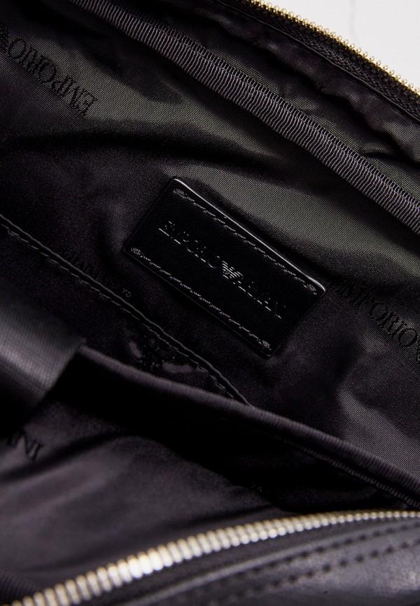 Фото 7 - мужскую сумку Emporio Armani черного цвета