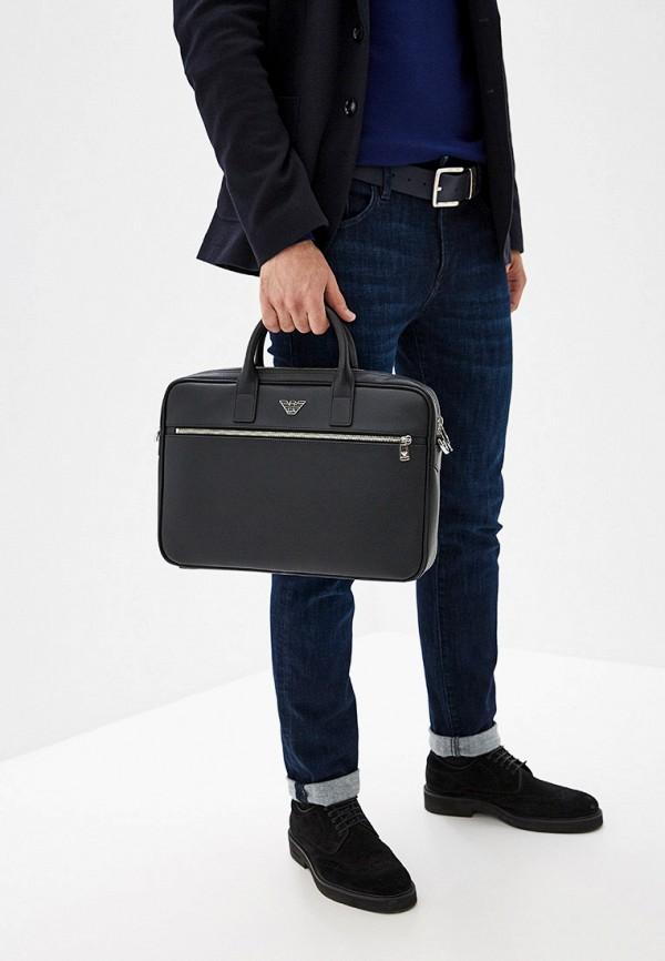 Фото 8 - мужскую сумку Emporio Armani черного цвета