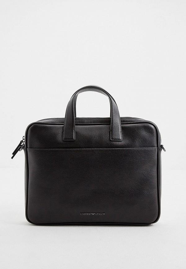 мужская сумка emporio armani, черная