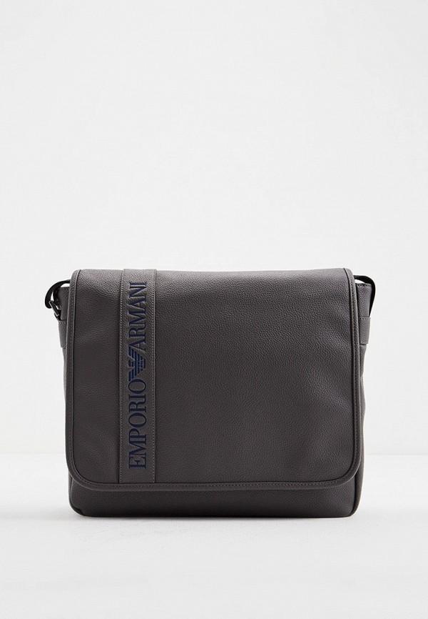 мужская сумка emporio armani, серая