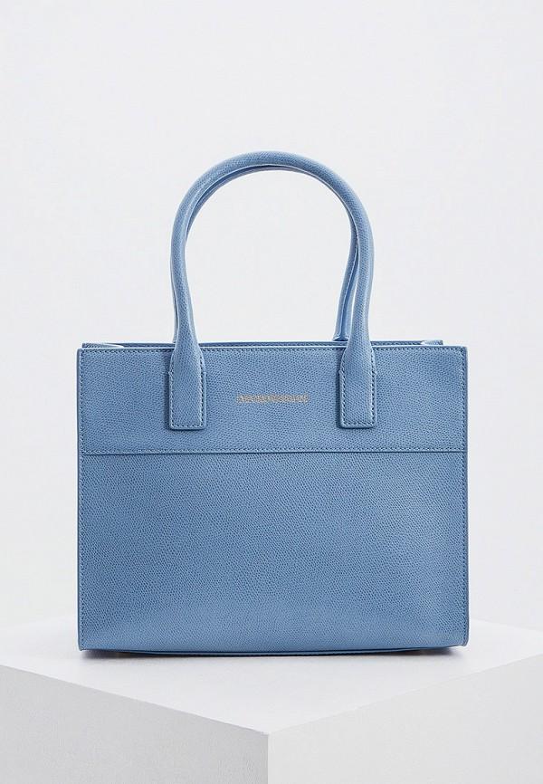 Фото - женскую сумку Emporio Armani голубого цвета