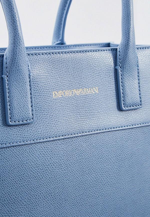 Фото 4 - женскую сумку Emporio Armani голубого цвета