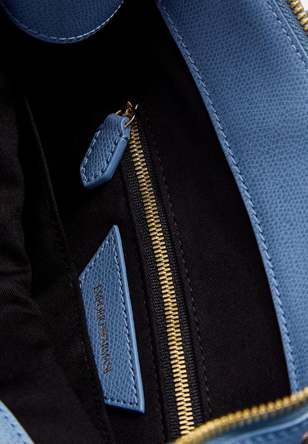 Фото 5 - женскую сумку Emporio Armani голубого цвета