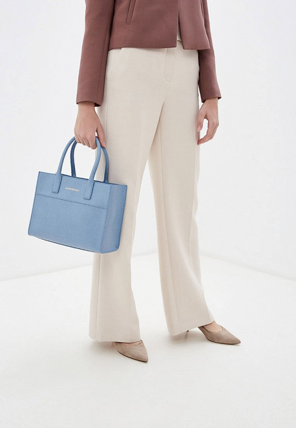 Фото 6 - женскую сумку Emporio Armani голубого цвета