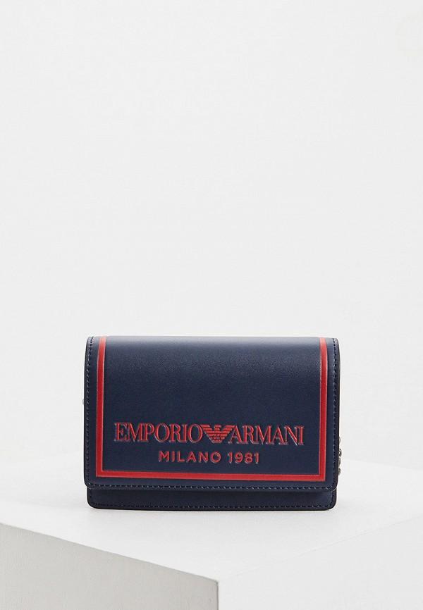 женская сумка emporio armani, синяя