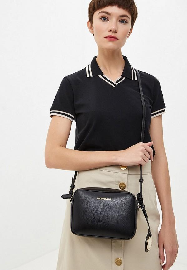 Фото 6 - женскую сумку Emporio Armani черного цвета