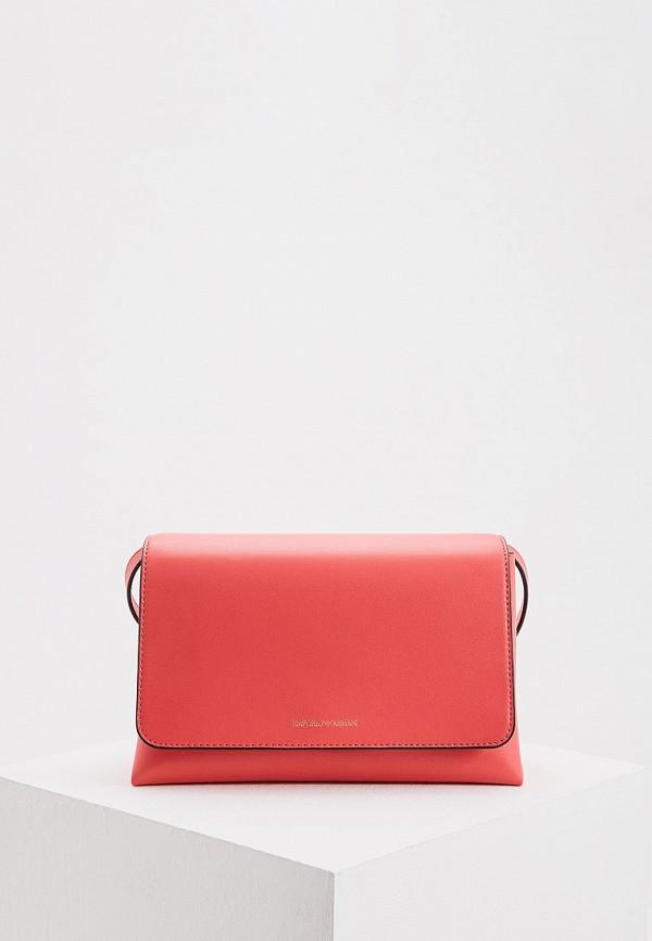 женская сумка emporio armani, розовая
