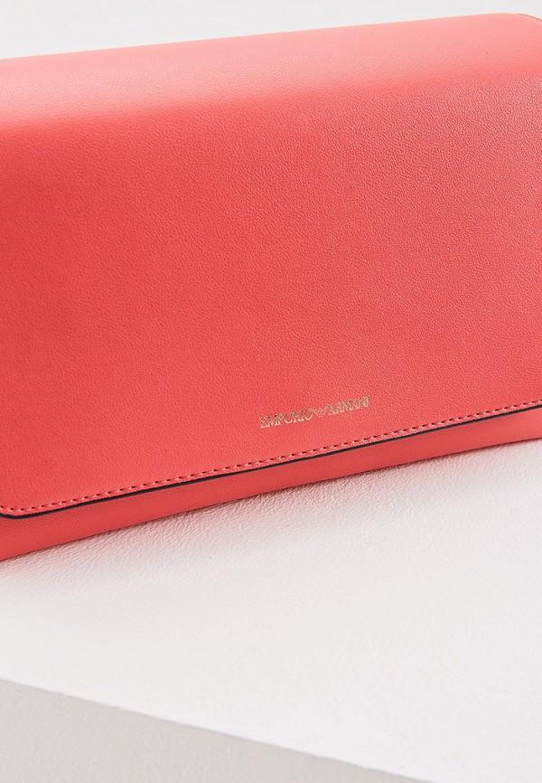 Фото 3 - женскую сумку Emporio Armani розового цвета