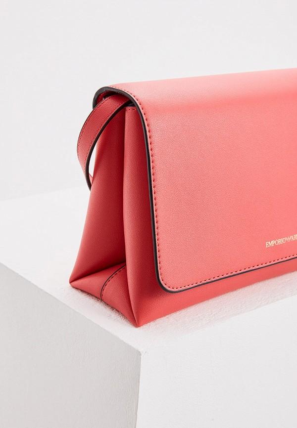 Фото 4 - женскую сумку Emporio Armani розового цвета