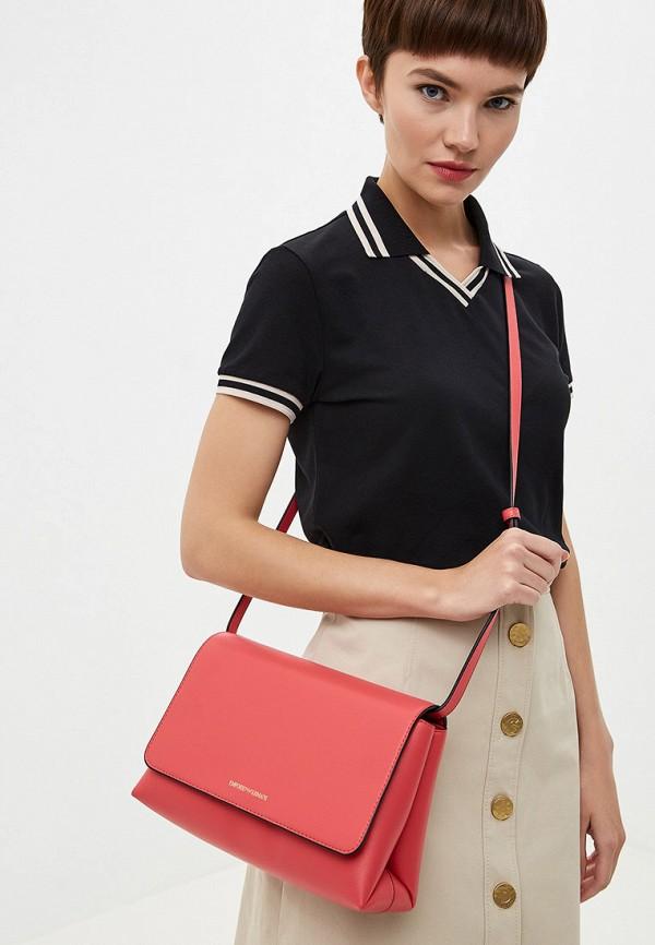 Фото 7 - женскую сумку Emporio Armani розового цвета