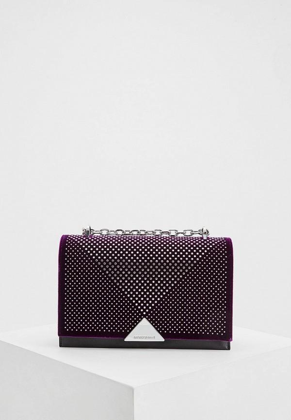 женская сумка emporio armani, фиолетовая