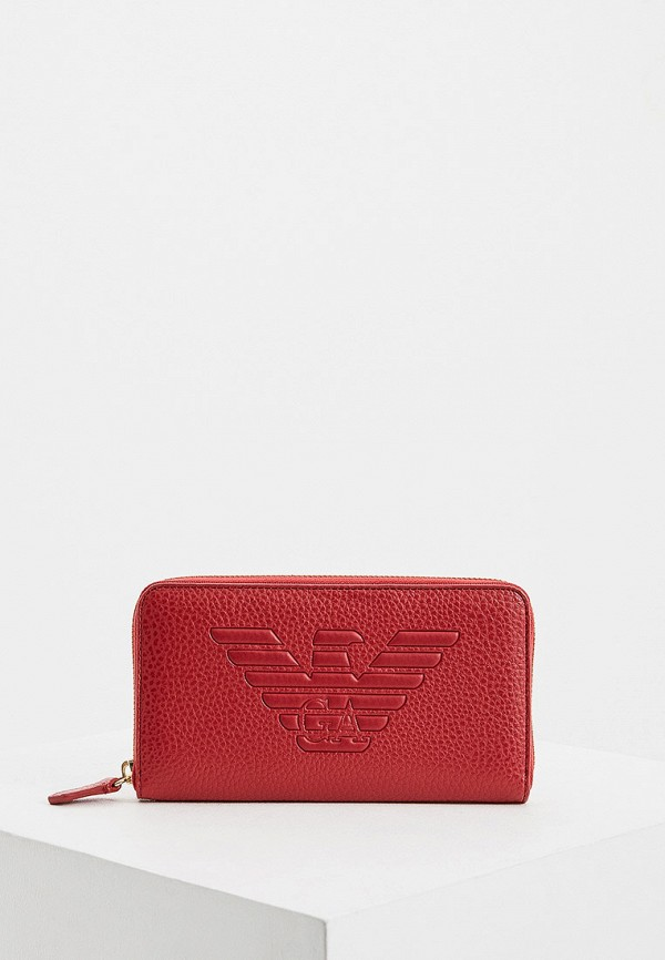 женский кошелёк emporio armani, красный