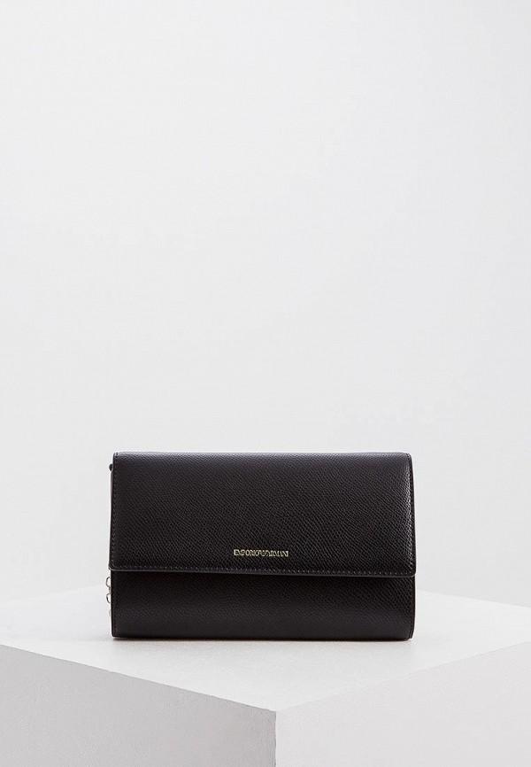 женский кошелёк emporio armani, черный