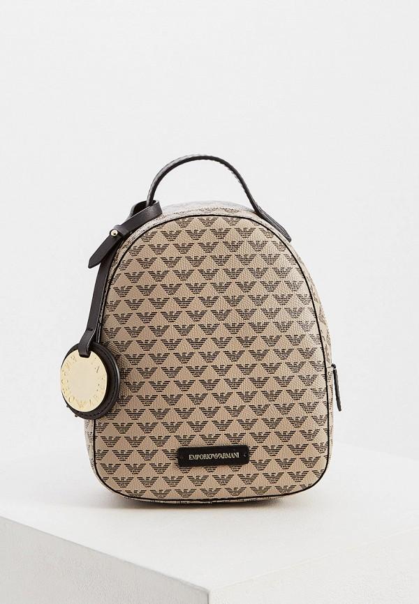 женский рюкзак emporio armani, бежевый