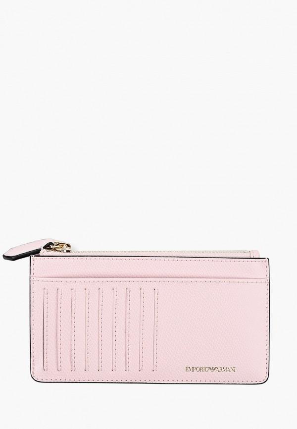 женский кошелёк emporio armani, розовый