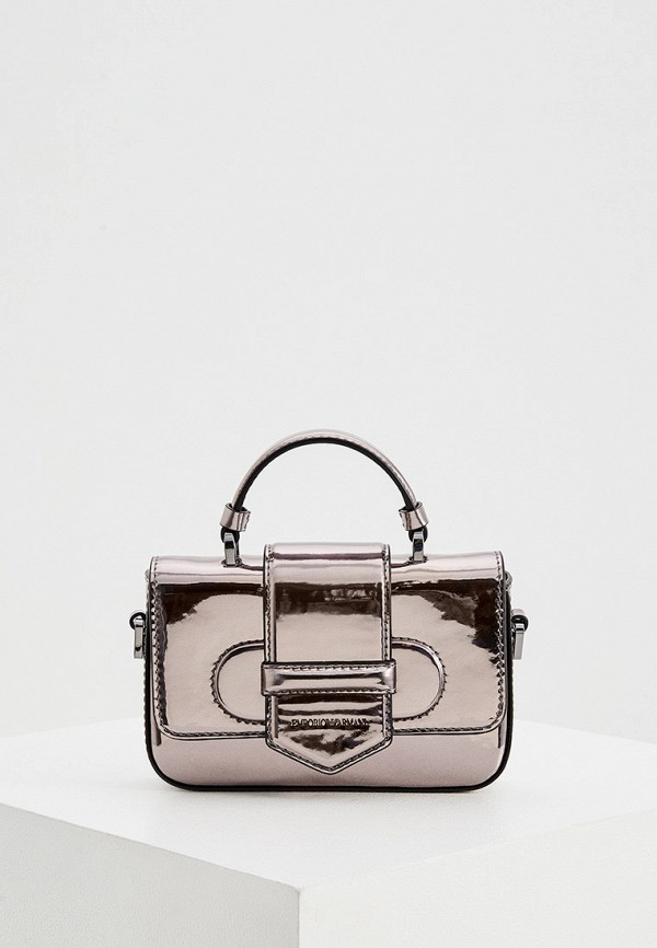 женская сумка emporio armani, серебряная