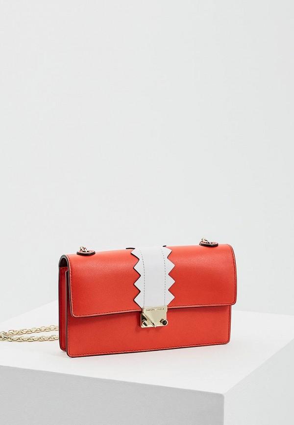 женская сумка emporio armani, красная