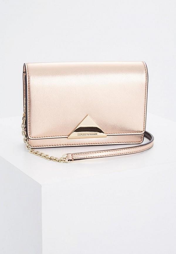 Фото - женскую сумку Emporio Armani золотого цвета