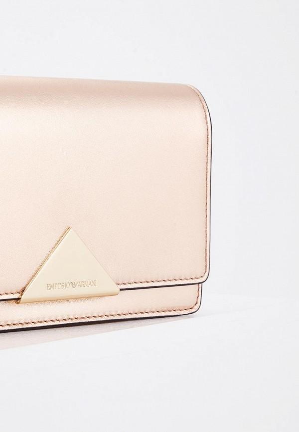 Фото 3 - женскую сумку Emporio Armani золотого цвета