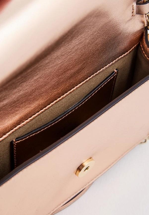 Фото 4 - женскую сумку Emporio Armani золотого цвета