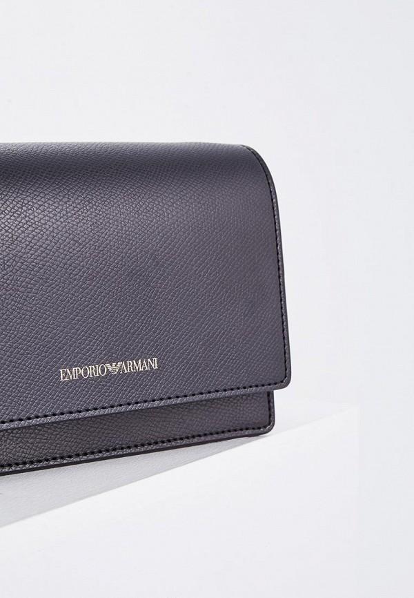 Фото 3 - женскую сумку Emporio Armani черного цвета