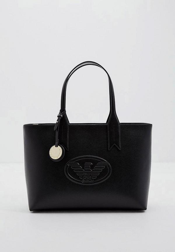 женская сумка emporio armani, черная