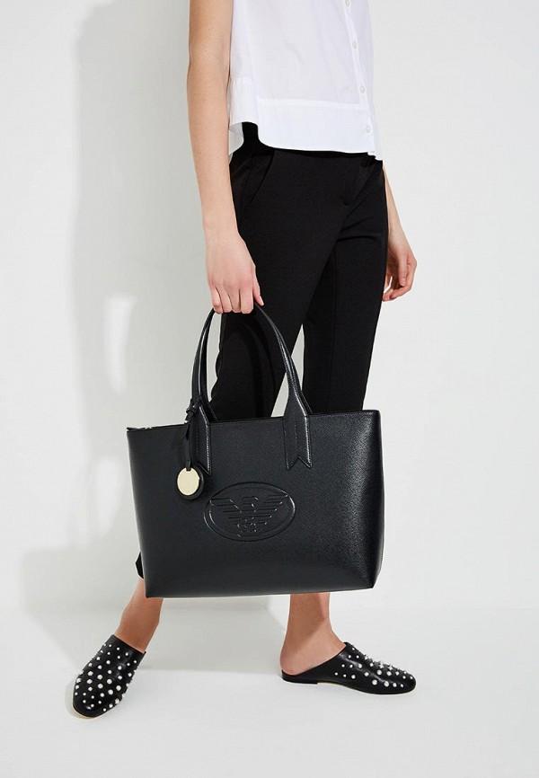Фото 5 - женскую сумку Emporio Armani черного цвета