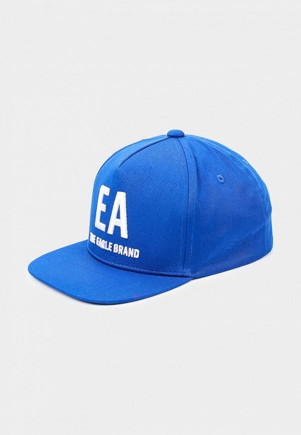 бейсболка emporio armani для мальчика, синяя