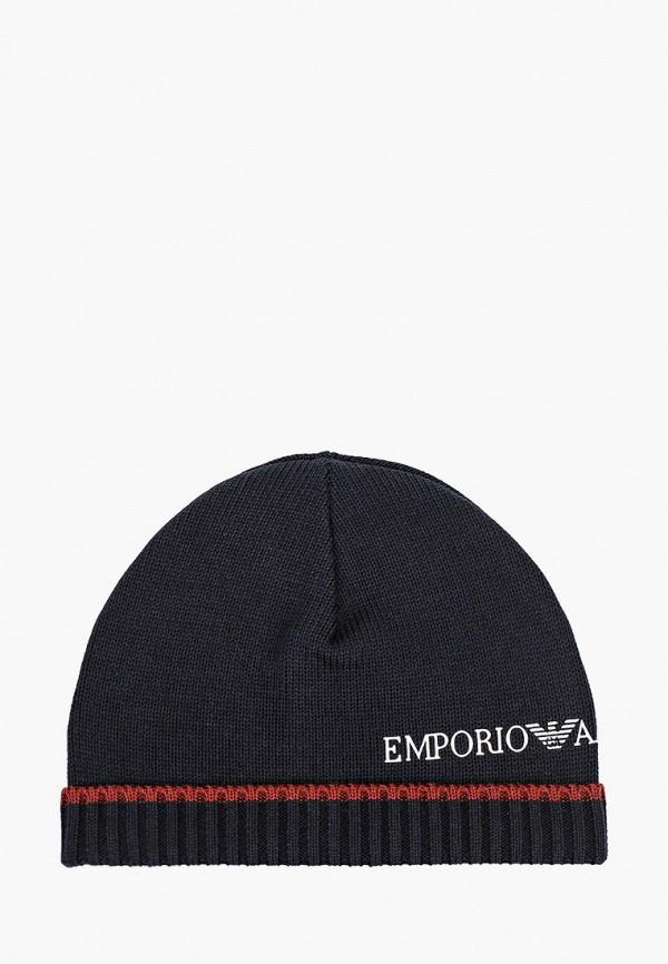шапка emporio armani для мальчика, синяя