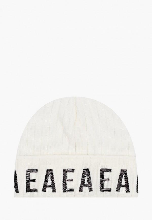 шапка emporio armani для девочки, бежевая