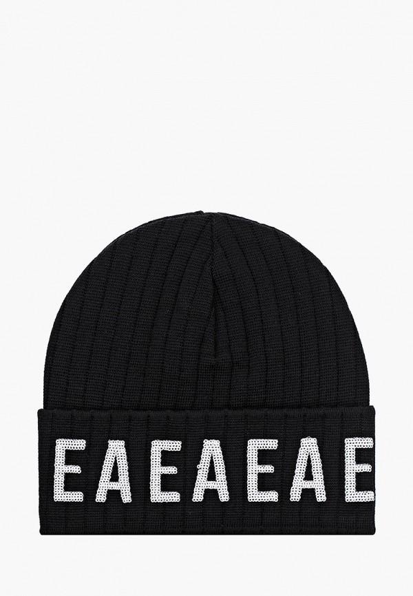 шапка emporio armani для девочки, черная