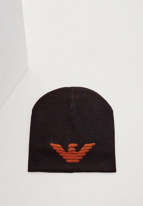мужская шапка emporio armani, черная