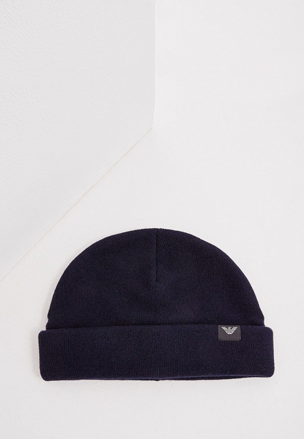 Фото - мужскую шапку Emporio Armani синего цвета