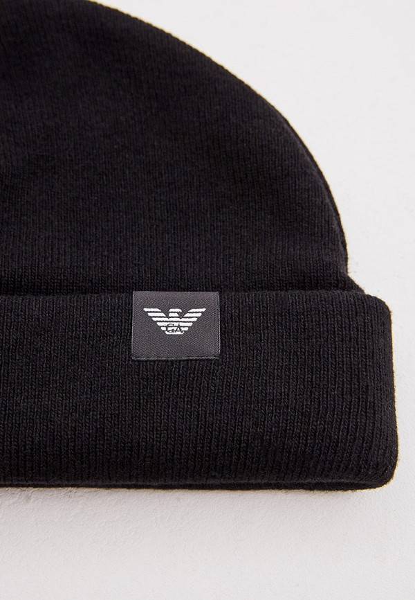 Фото 4 - мужскую шапку Emporio Armani черного цвета