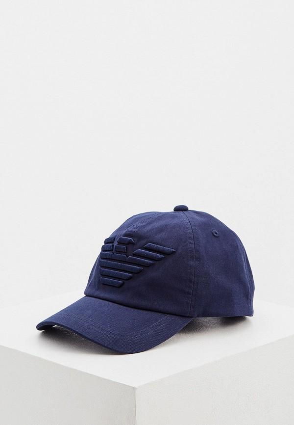 мужская бейсболка emporio armani, синяя