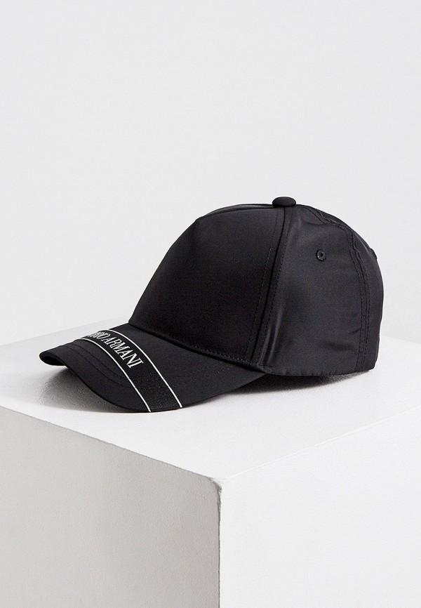 мужская бейсболка emporio armani, черная