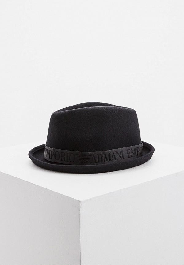 женская шляпа emporio armani, черная