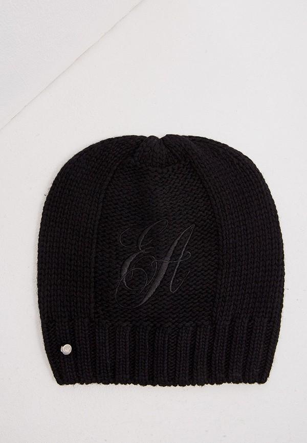 женская шапка emporio armani, черная
