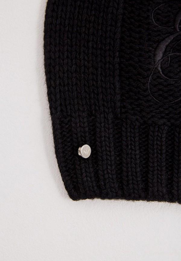 Фото 3 - женскую шапку Emporio Armani черного цвета