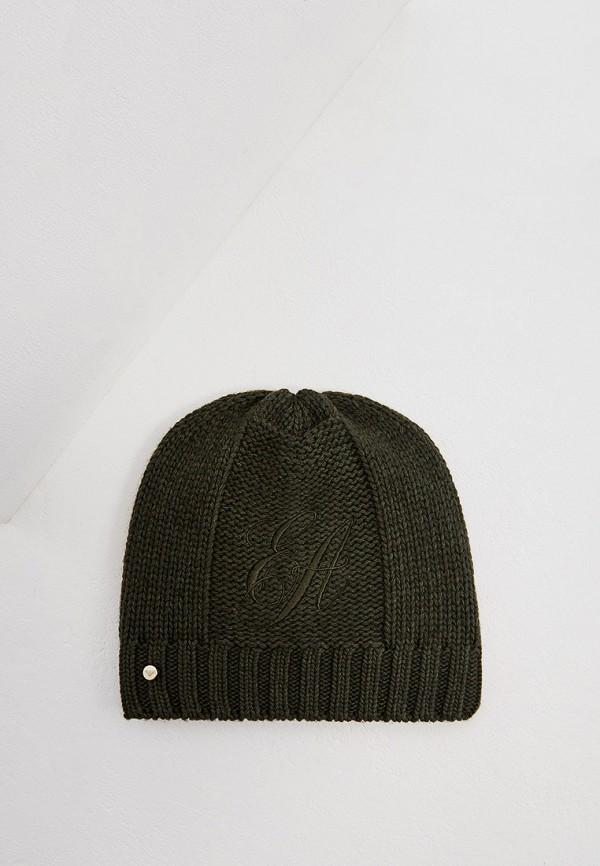 женская шапка emporio armani, хаки