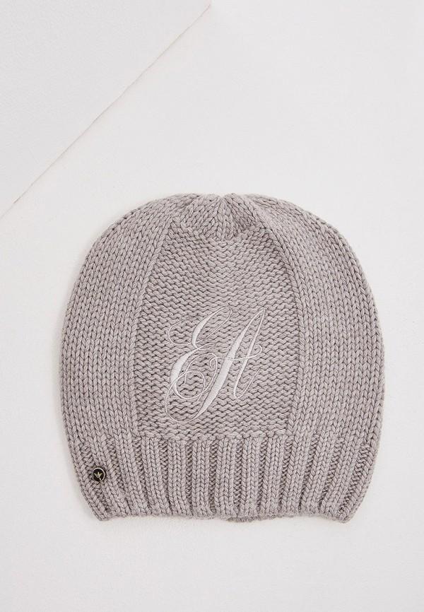 женская шапка emporio armani, серая