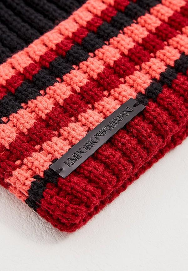 Фото 3 - женскую шапку Emporio Armani разноцветного цвета