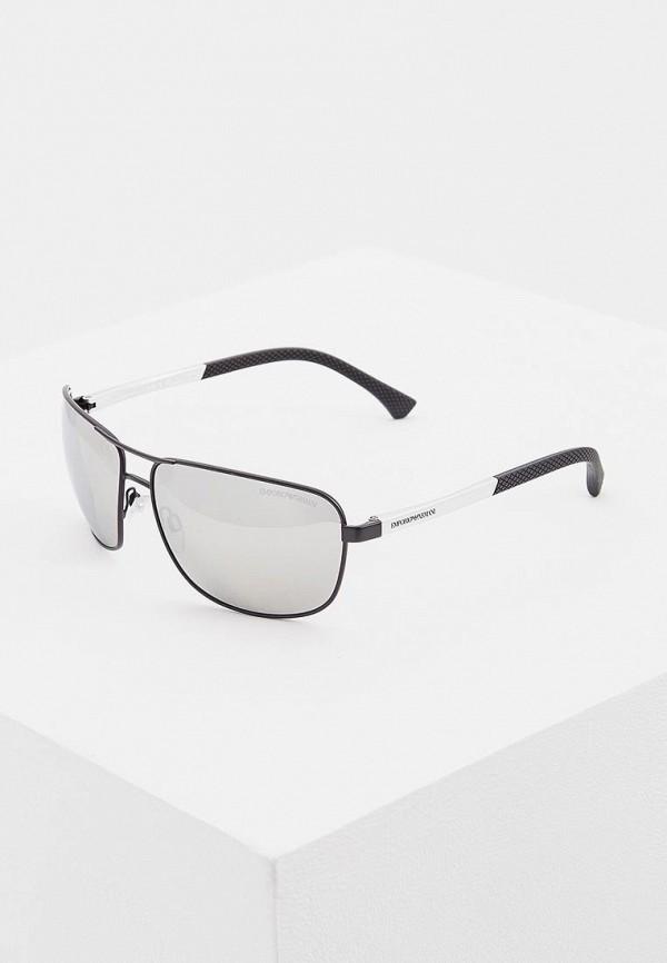 мужские солнцезащитные очки emporio armani, серебряные
