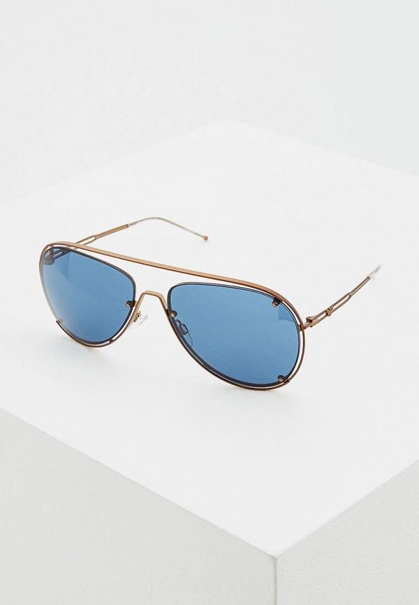 мужские солнцезащитные очки emporio armani, золотые