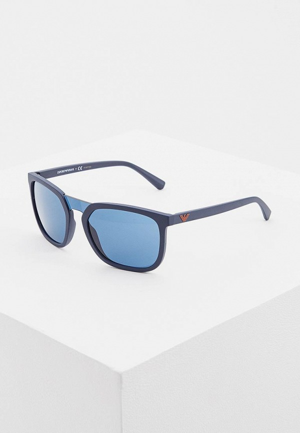Солнцезащитные очки  синий цвета