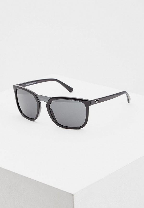 мужские солнцезащитные очки emporio armani, черные