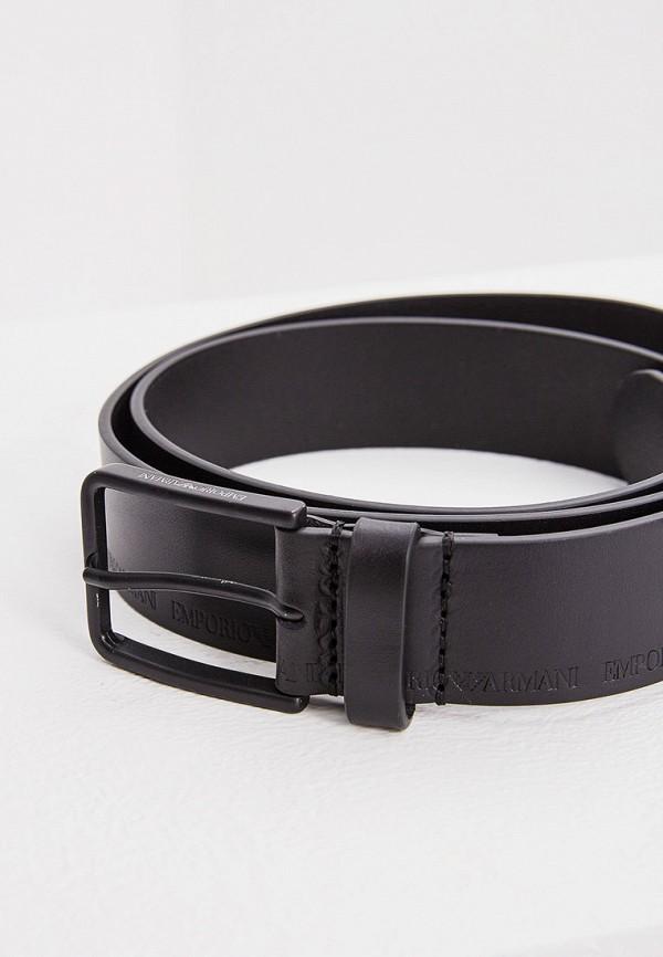 Фото 3 - Ремень Emporio Armani черного цвета