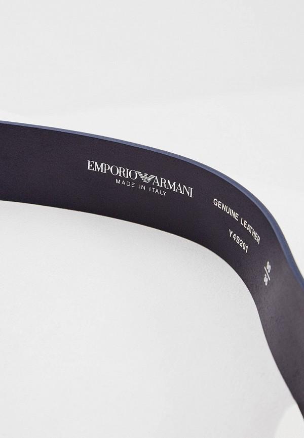 Фото 3 - Ремень Emporio Armani синего цвета