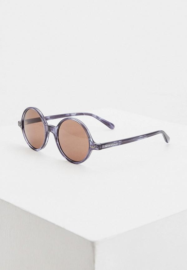 мужские круглые солнцезащитные очки emporio armani, серые